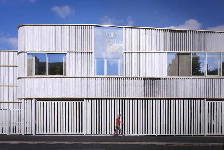Escuela Lucie Aubrac / Saison Menu Architectes Urbanistes, © Julien Lanoo