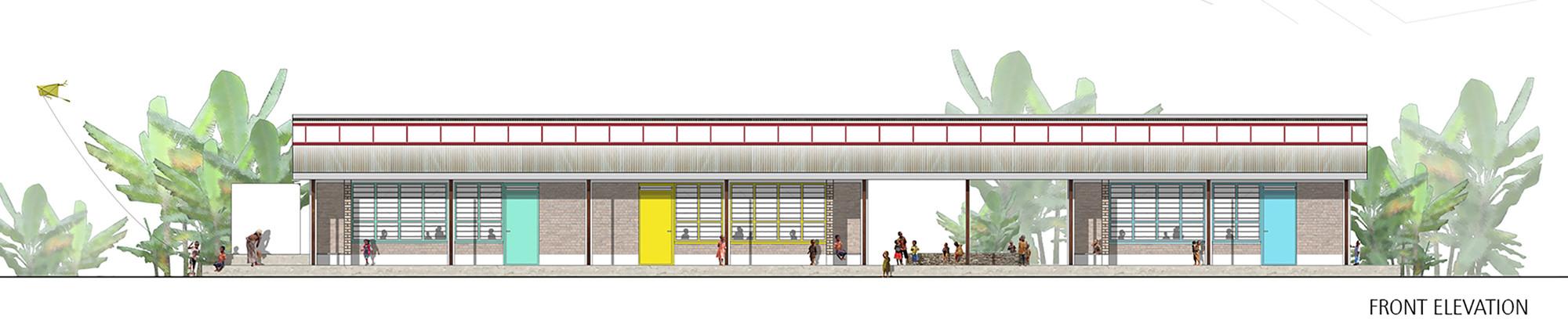 Primary School Plan Elevation : Gallery of pre primary school asa studio