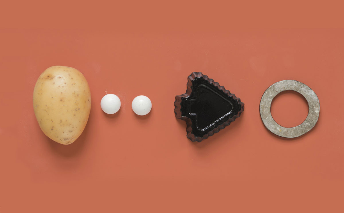Biofuel production leftovers, like potato cell walls, are repurposable, yielding distinctive new plastics for the 10% & More project. Image Courtesy of Ivy Wang