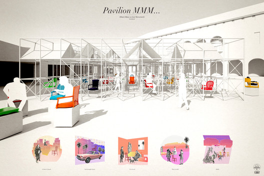 Winning Entry / Pavilion MMM by Design with Company. Image © Design with Company