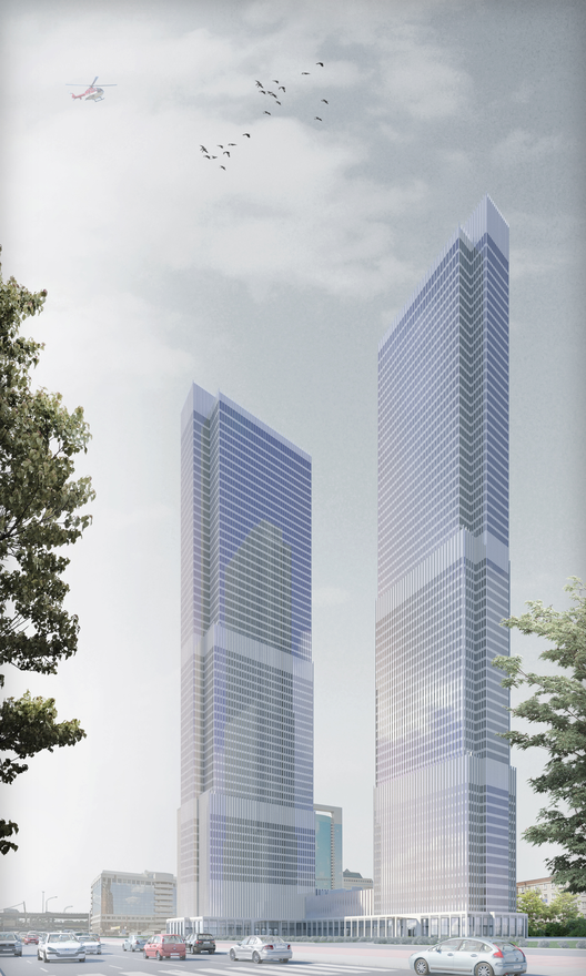 ST Towers, Moscú. Imágen © SPEECH architectural office