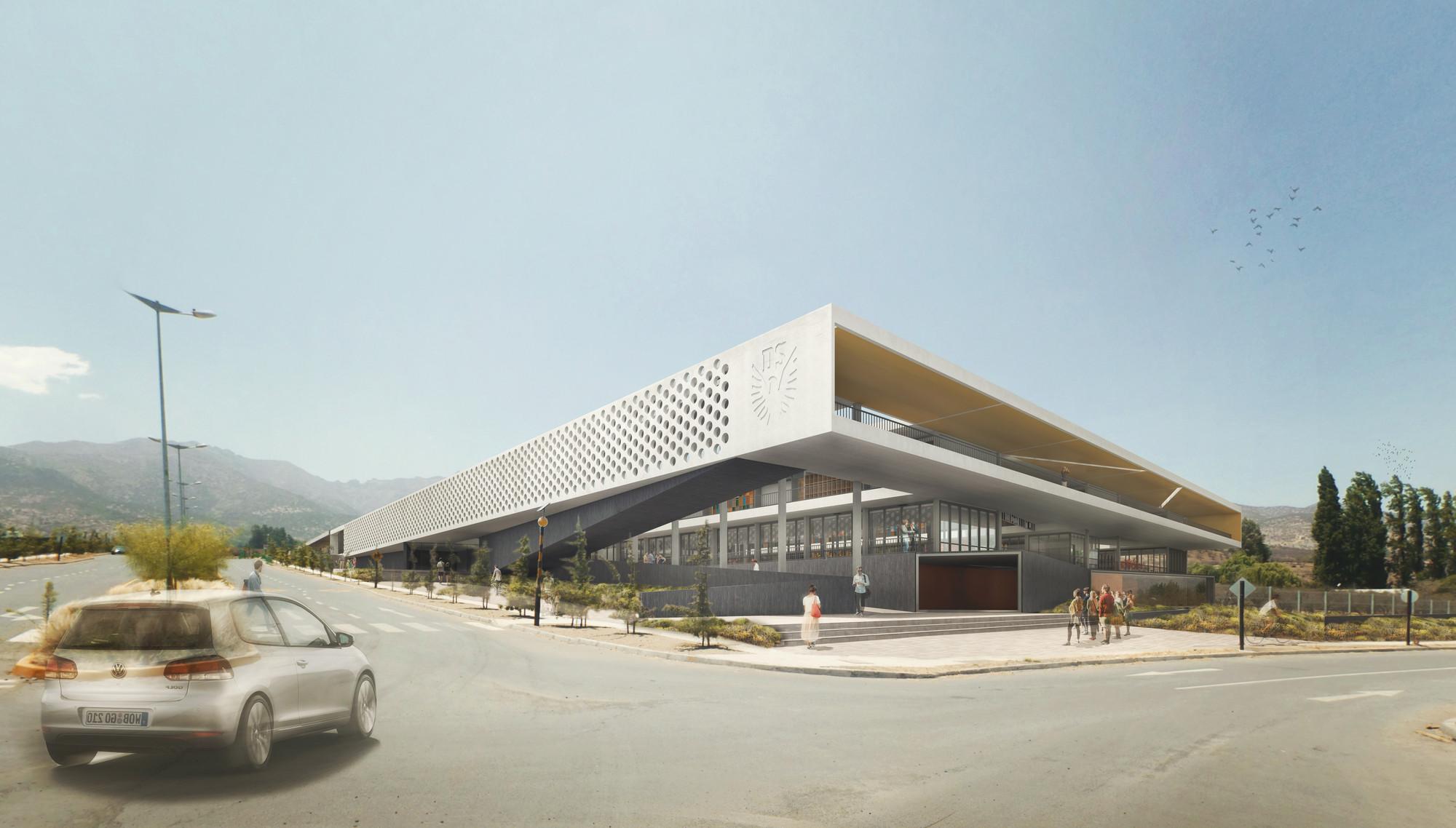 Segundo Lugar Concurso Liceo Alemán de Chicureo: MasFernandez Arquitectos + Felipe Fuentes, Courtesy of MasFernandez Arquitectos