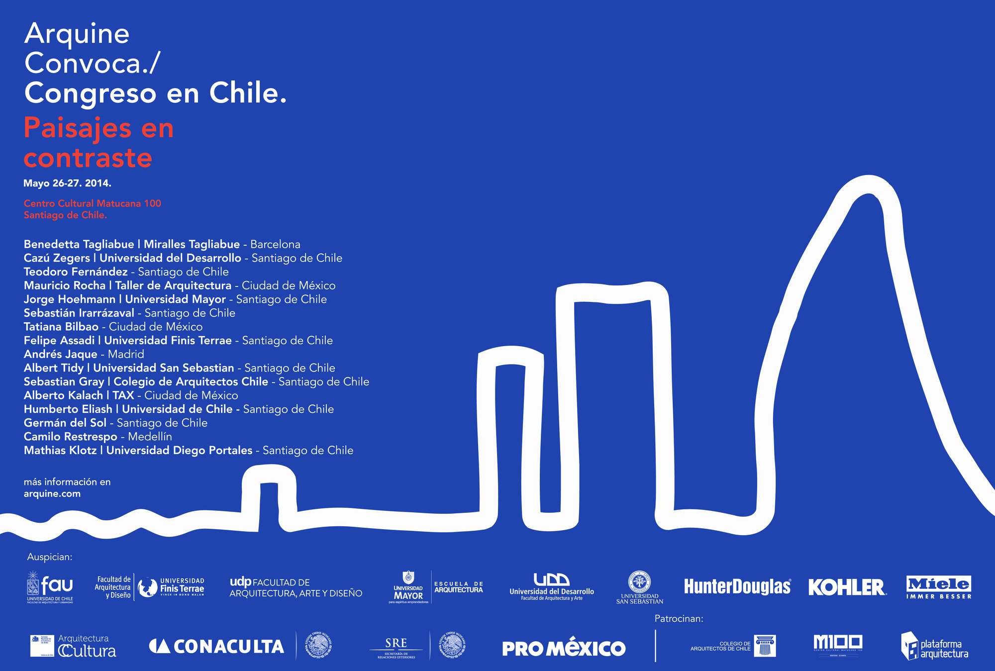 Congreso Arquine en Chile: Paisajes en Contraste