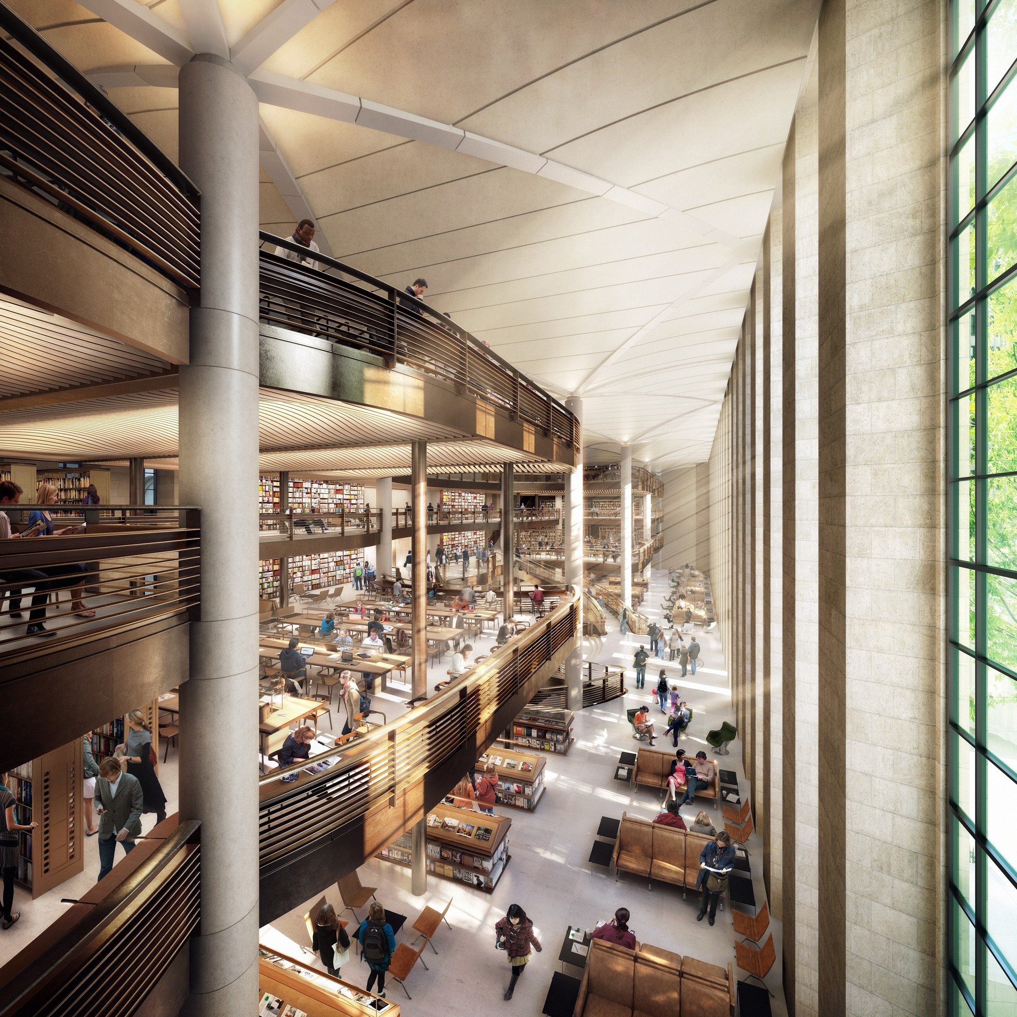 New York Public Library Scraps Foster-Designed Renovation Plans, Foster + Partners renovation scheme. Rendering by dbox. Image © Foster + Partners