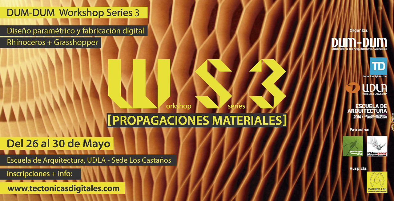 "Workshop Series 3: ""propagaciones materiales"", Viña del Mar / ¡Sorteamos un cupo! , Courtesy of Dum Dum Lab"