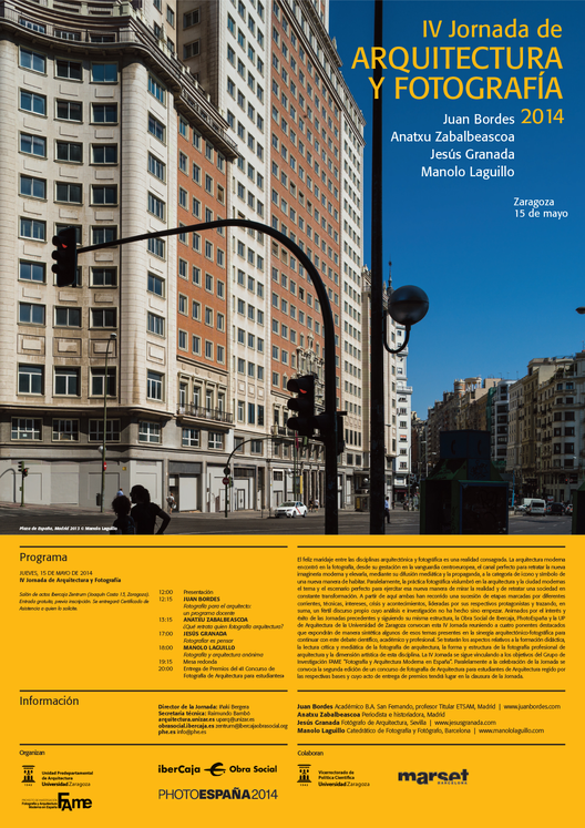IV Jornada de Arquitectura y Fotografía 2014 / Zaragoza, España