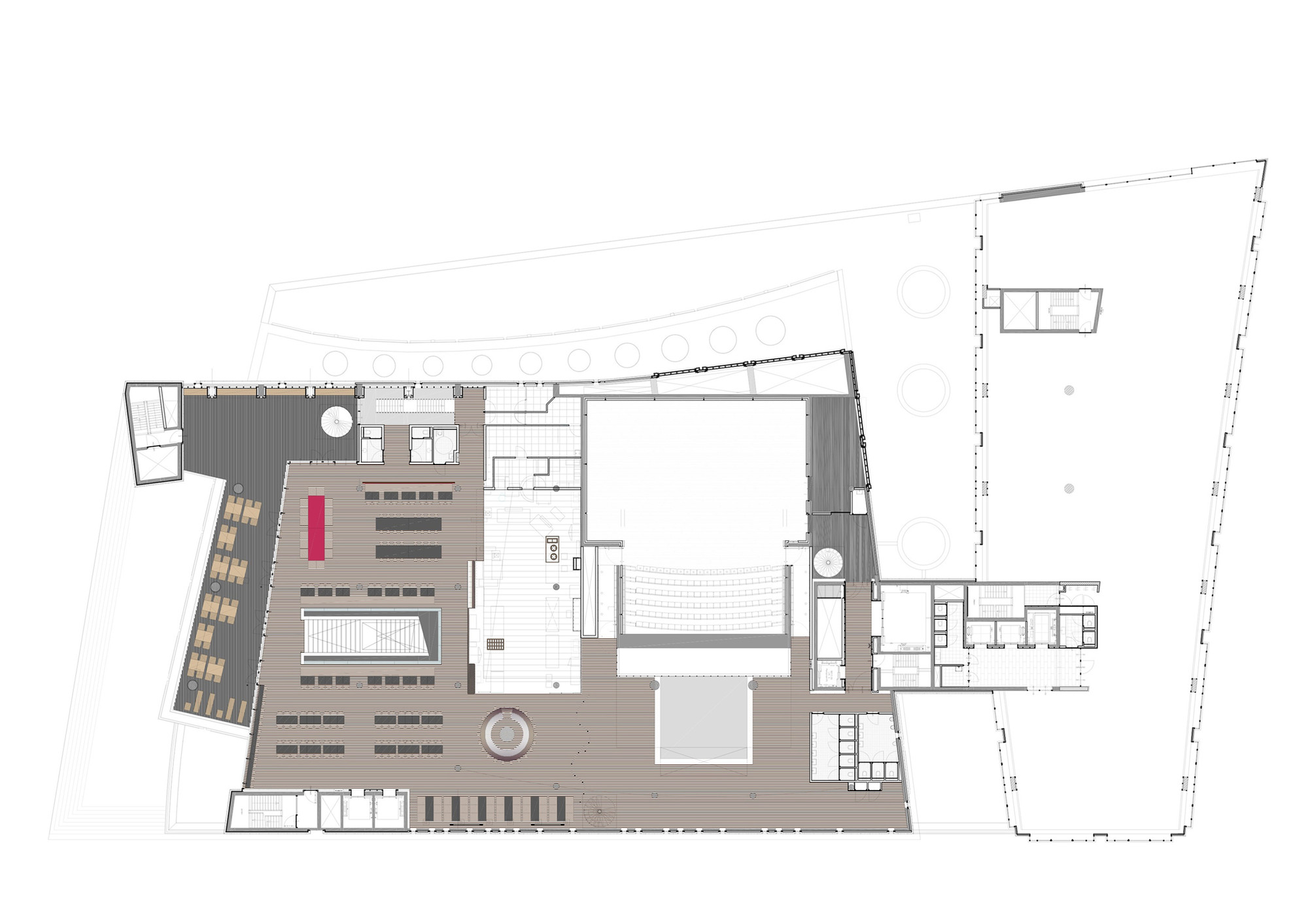Sample Floor Plan Of A Restaurant Gallery Of Public Library Amsterdam Jo Coenen Amp Co