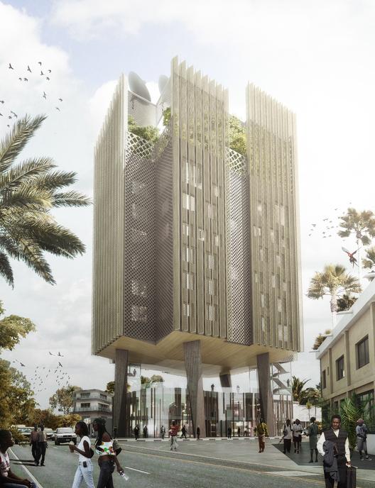 Mikou Studio construirá las oficinas de Africa news en el Congo, © Mikou Studio