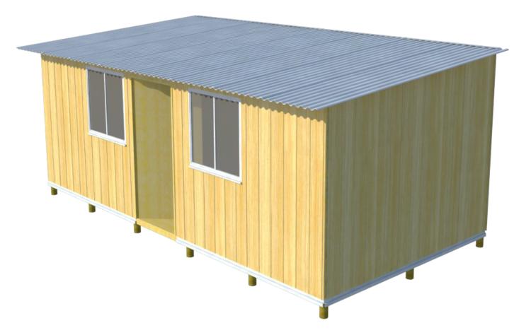 Tipología vivienda básica 19.3 m2