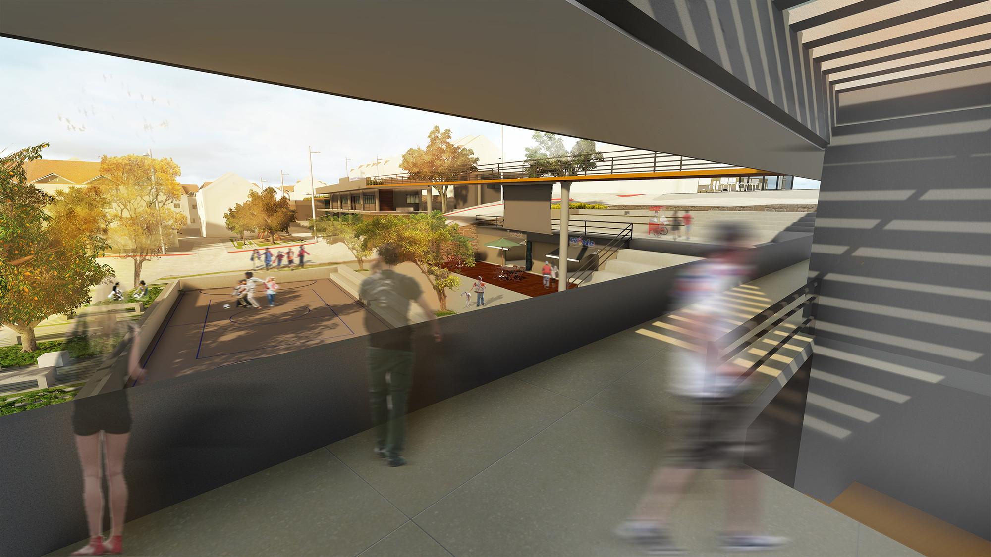 Relación de la edificación y el espacio público. Image Courtesy of Mariana Morais Luiz