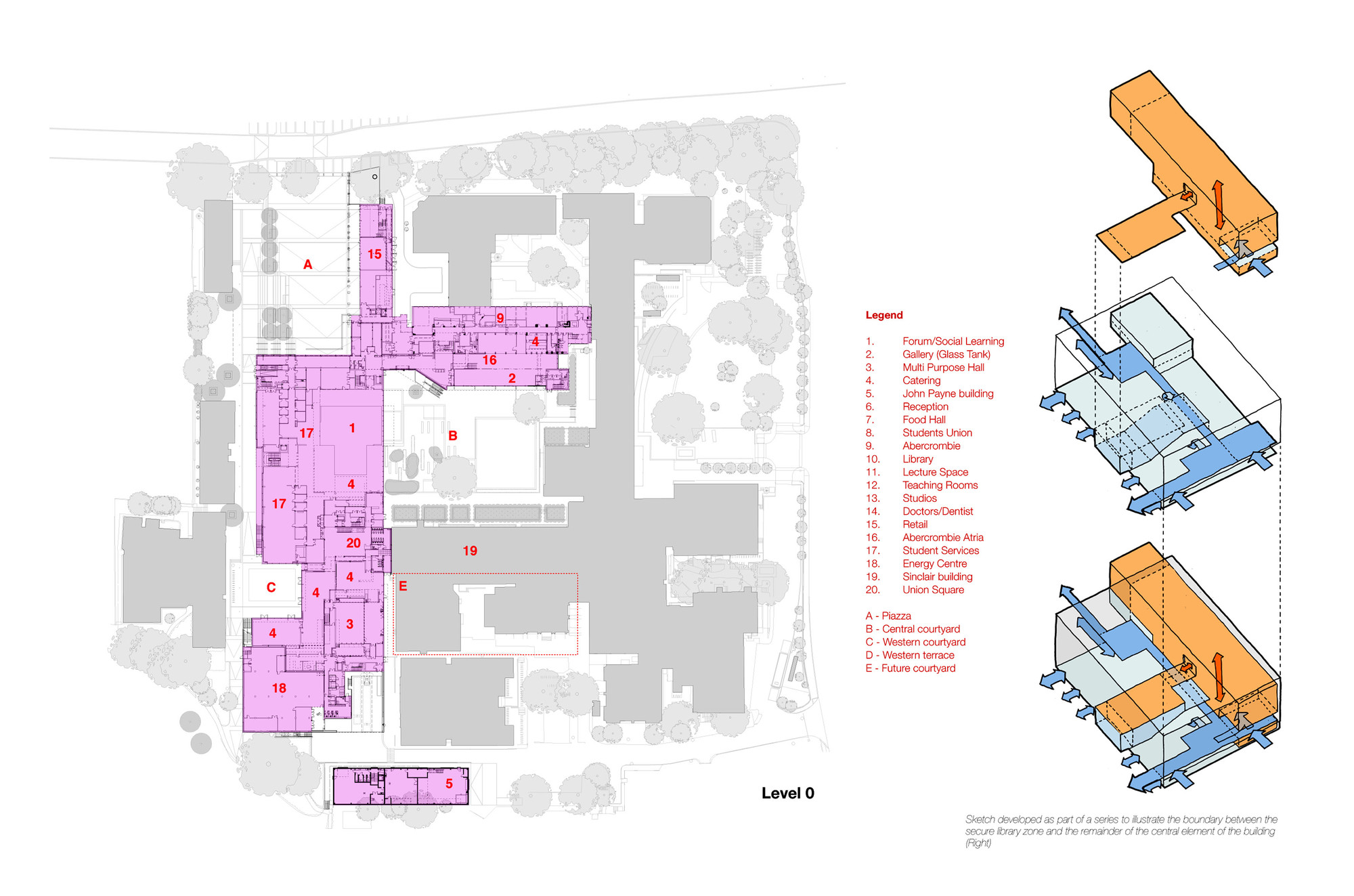 John henry brookes and abercrombie building design for Oxford floor plan
