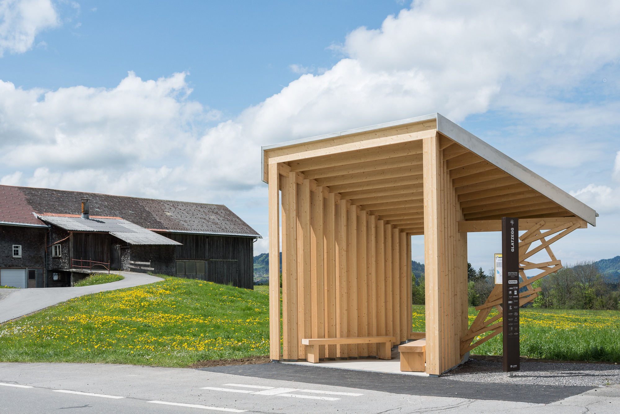 Bus stop unveils 7 unusual bus shelters by world class for Shelter studios