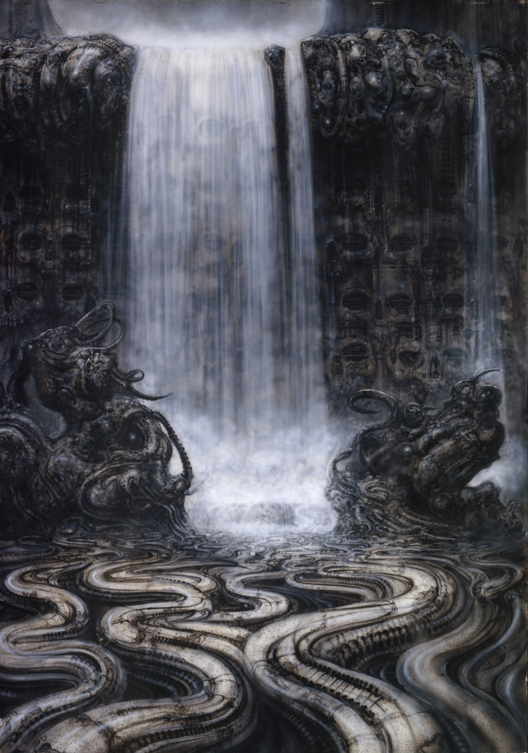 Catarata, 1977, 100×70 cm, acrílico sobre papel. Image Courtesy of Giger Museum