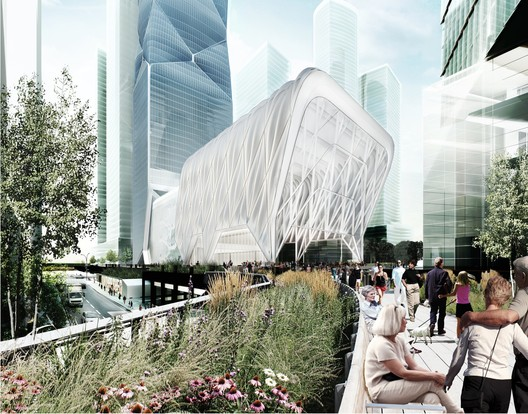 "Diller Scofidio + Renfro's ""Culture Shed"" is awaiting approval, but other projects are already underway in the 28 Acre Hudson Yards development. Image © Diller Scofidio + Renfro and Rockwell Group"
