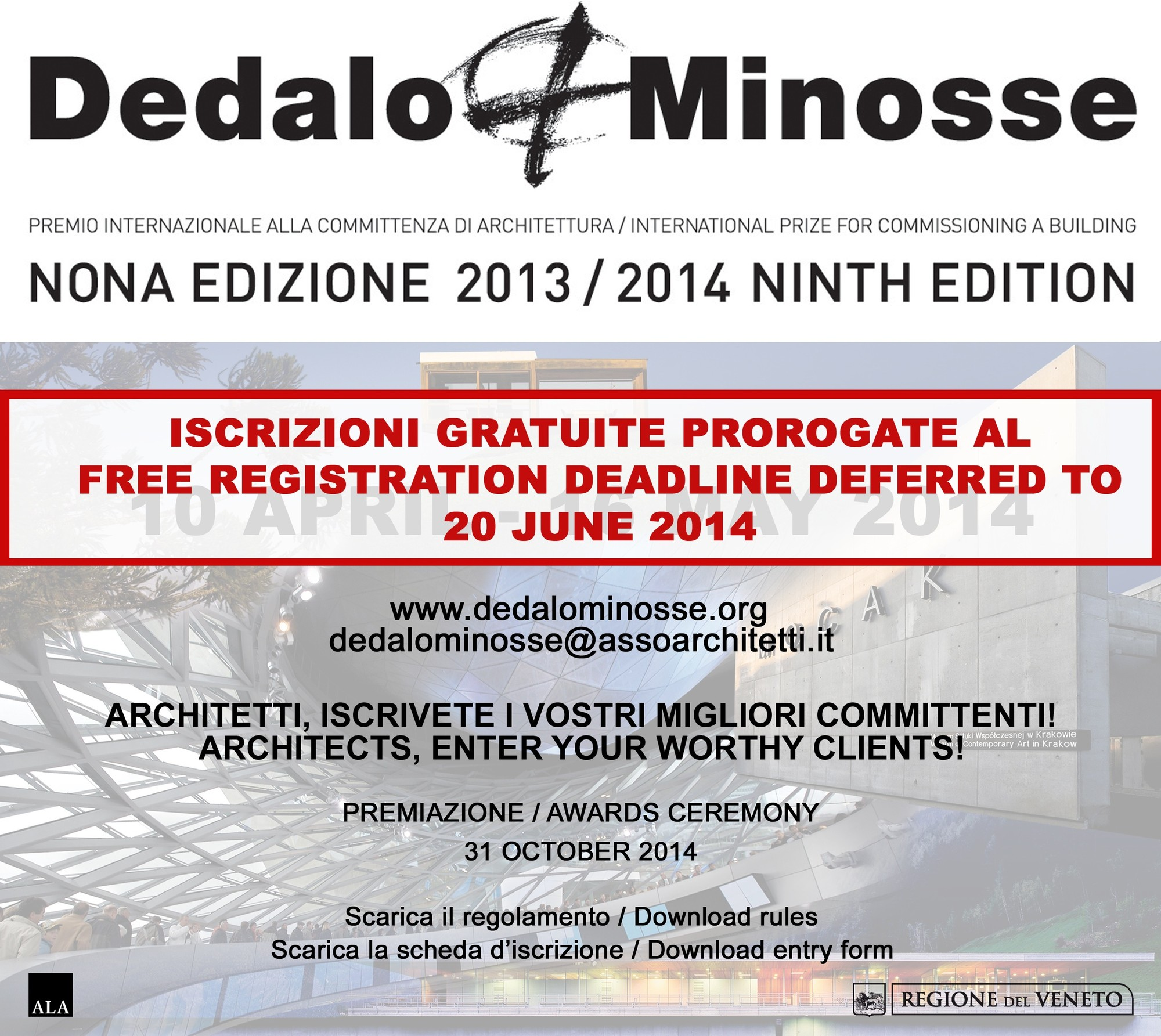 Dedalo Minosse International Prize for Commissioning a Building