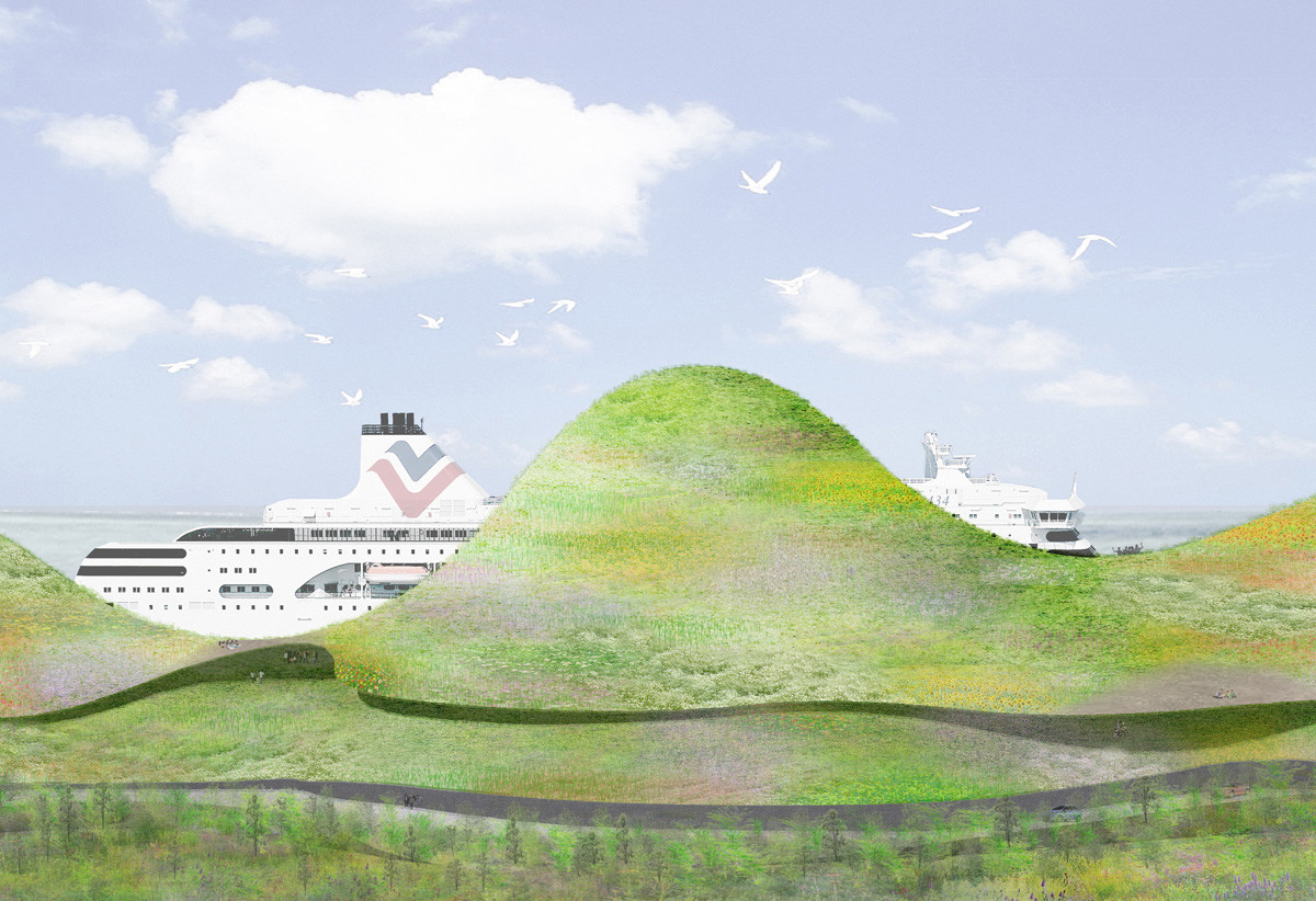 5 Architects Envision New Port of Kinmen, First Prize: Junya Ishigami + Associates (Japan). Image Courtesy of Kinmen Harbor Bureau