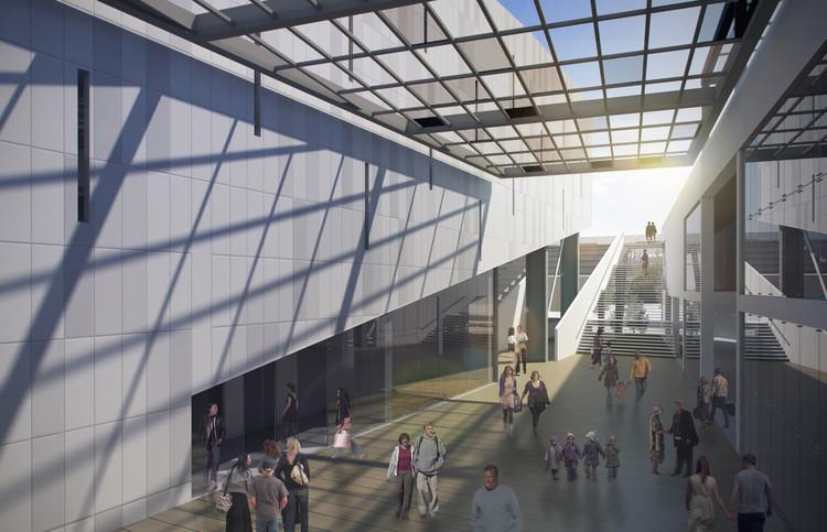 Plaza foyer del auditorio. Image Cortesía de Claudia Oviedo Valcárcel y Ronald Soto Mendieta