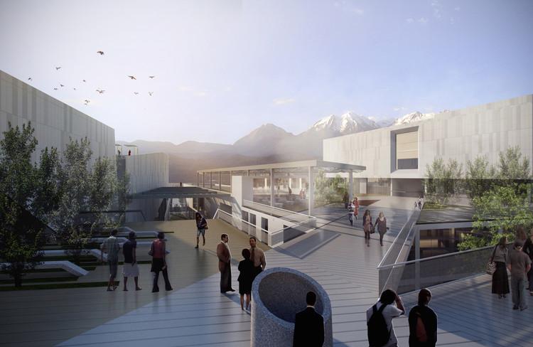Plaza de acceso desde el centro histórico. Image Cortesía de Claudia Oviedo Valcárcel y Ronald Soto Mendieta
