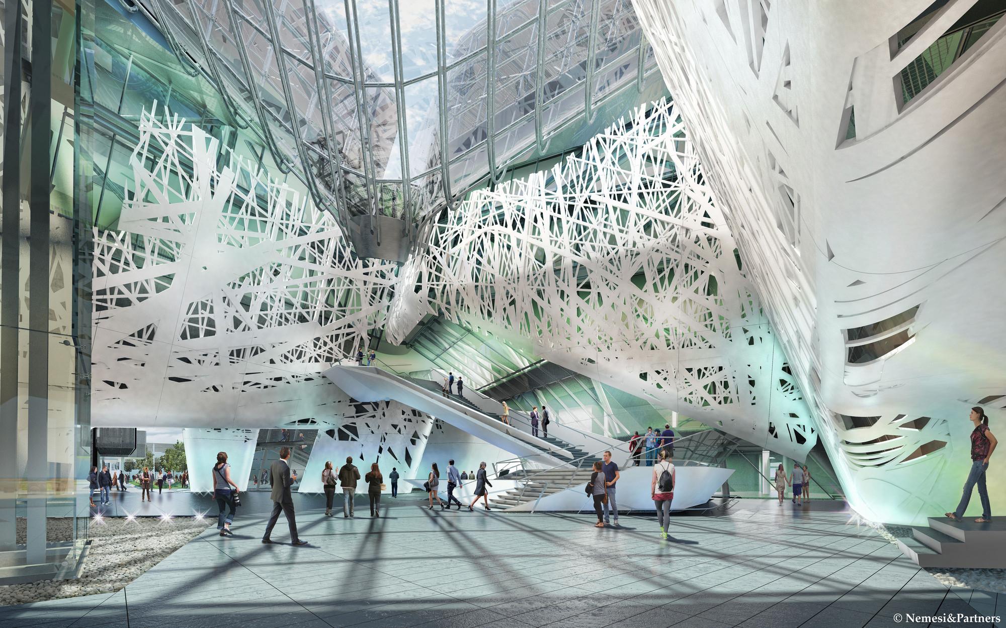 Plaza Interior. Imagen © Nemesi & Partners