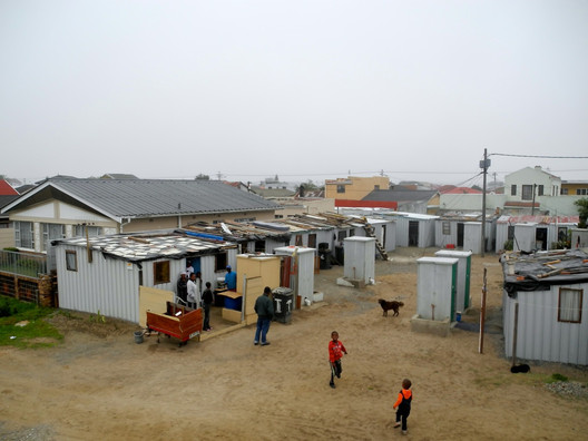 In Kuku Town, dwellings were rearranged to face a communal courtyard - where people can gather for activities and keep an eye on their neighbors and shared facitilies.. Image Courtesy of Future Cape Town