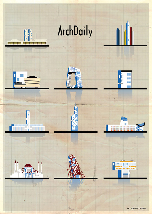 Federico Babina's Latest Archi-Illustrations: Classic National Architecture (With A Twist), Courtesy of Federico Babina