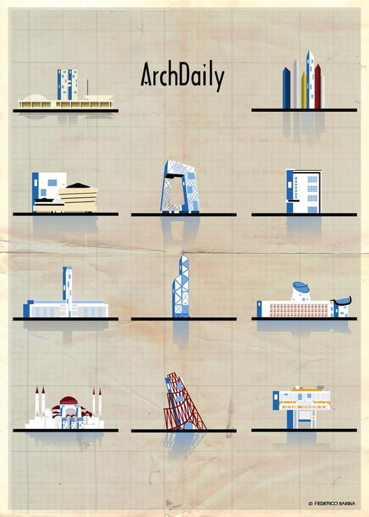 Federico Babina's Latest Archi-Illustrations: Classic National Architecture (With A Twist), Courtesy of Federico Babina