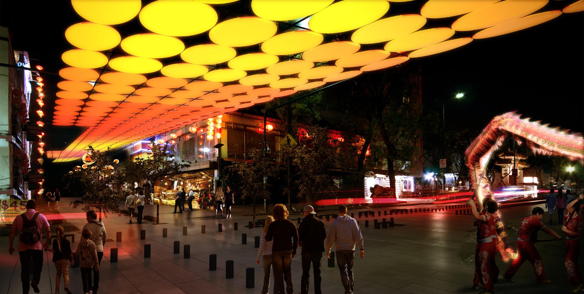 Segundo Lugar Concurso de Arquitectura Intervención Urbana 2014 / México, Cortesia de Equipo Segundo Lugar