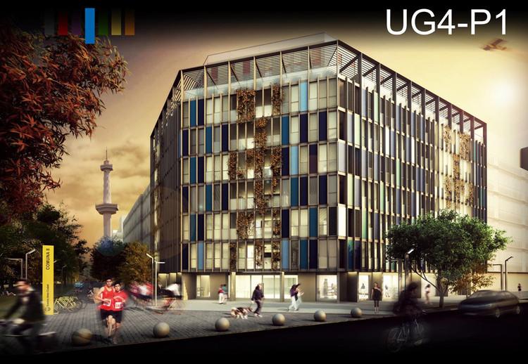 Mención Honrosa: Código G107. Image © Sociedad Central de Arquitectos (SCA)