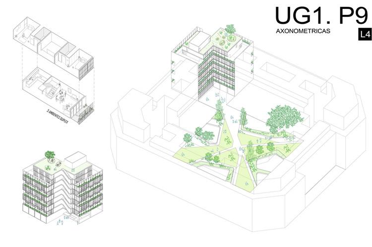Mención Honrosa: Código H108. Image © Sociedad Central de Arquitectos (SCA)