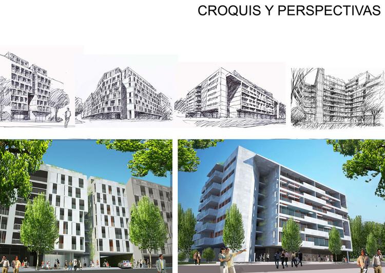 Mención Honrosa: Código I109. Image © Sociedad Central de Arquitectos (SCA)