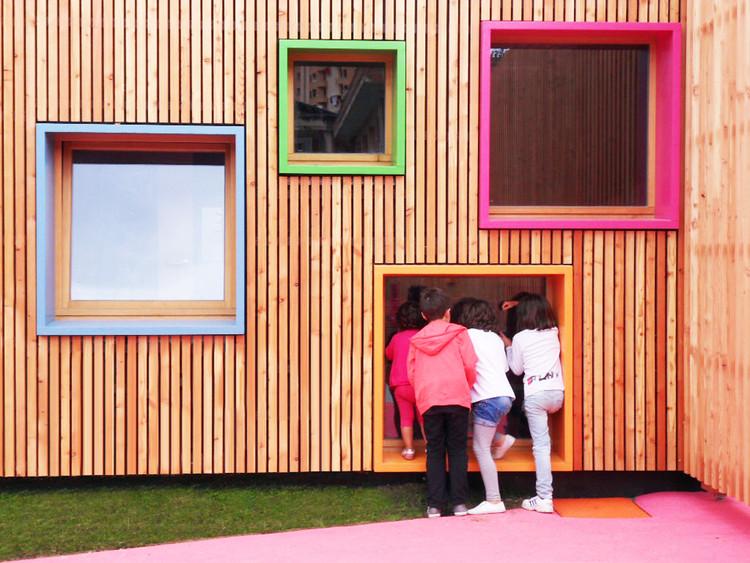 Nuevo edificio de educación infantil y guardería en Zaldibar / Hiribarren-Gonzalez + Estudio Urgari . Image Cortesía de Egoin