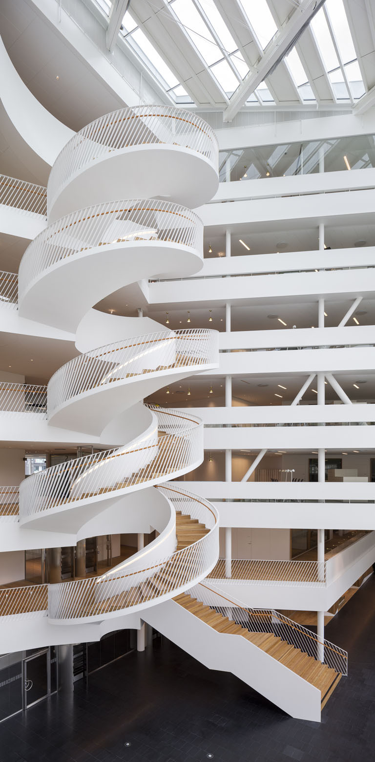 Gallery of swedbank 3xn 4 for Architecture spiral staircase