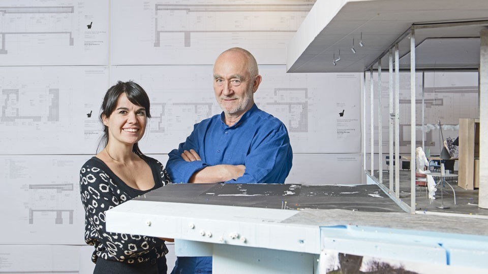 Peter Zumthor with protege Gloria Cabral. Image Courtesy of Rolex Mentor and Protege Arts Initiative