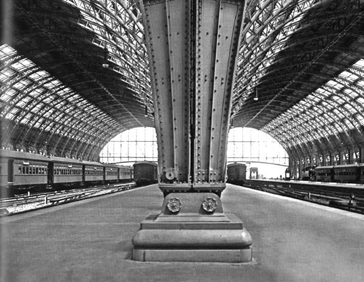1914 / Estación de trenes de Retiro, Buenos Aires. Inaugurada en 1915. Imagen Cortesía de Ideal / Real