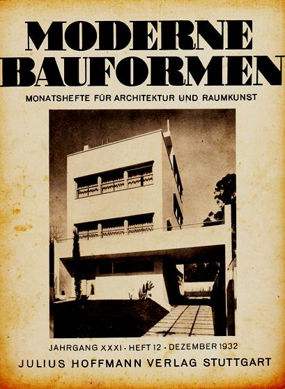 1932 / Proyecto del Arquitecto Argentino Alberto Prebisch en la portada de la revista Alemana Modernen Bauformen. Imagen Cortesía de Ideal / Real