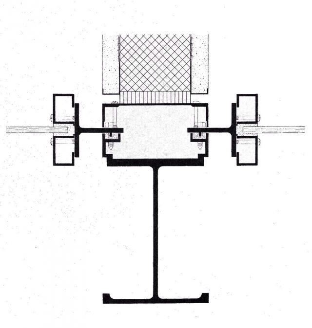 Detalle estructura y cerramiento Edificio Seagram (1958)