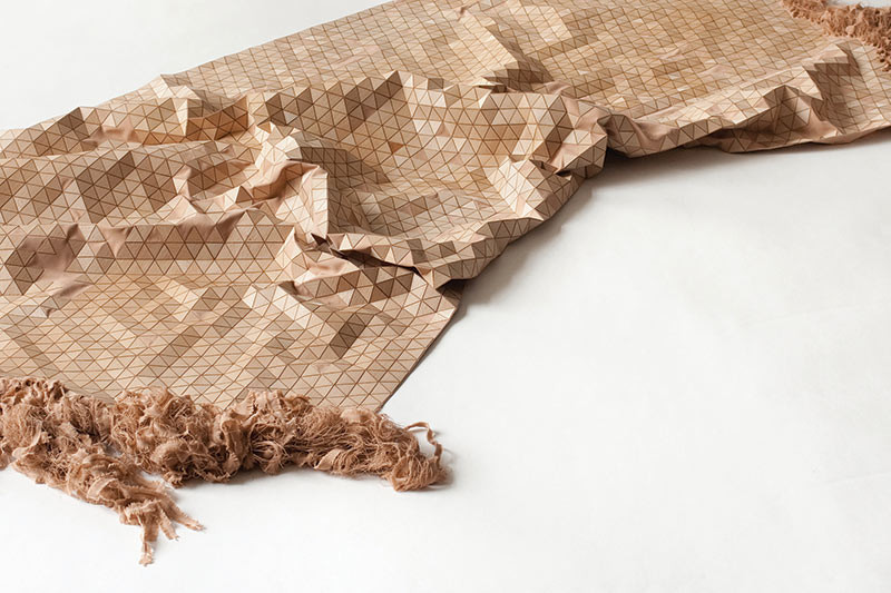 Wooden Textiles - A Mixture Of Of Materials That Makes Wood Feel Soft. Image Courtesy of Interiors & Sources