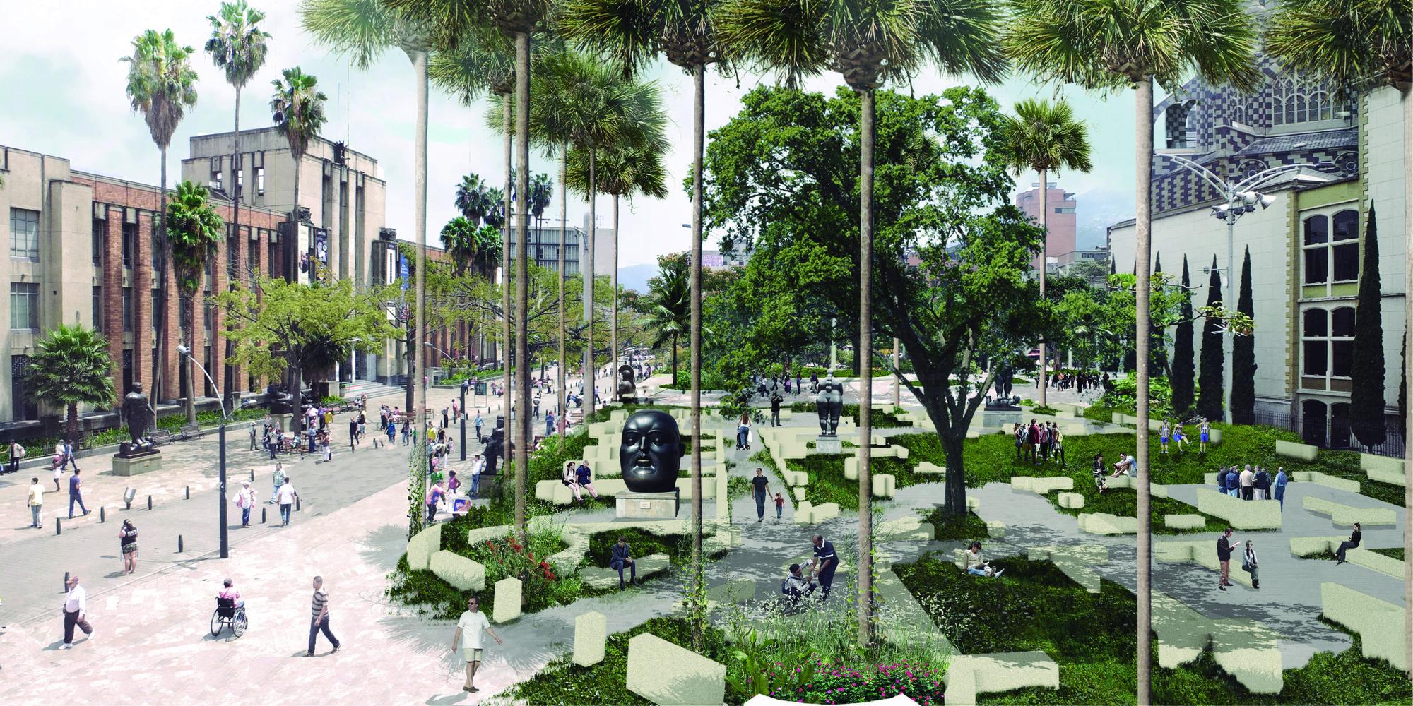 El fantasma de la Plaza de Botero. Image Courtesy of L-A-P + OPUS