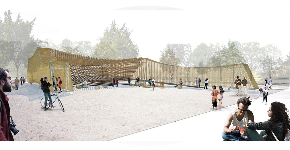 Finalista: 'El telar del agua y los sueños' de Larraín + Moreira. Image Courtesy of YAP_CONSTRUCTO
