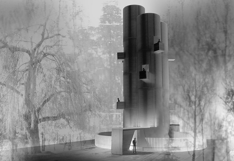 Finalista: 'Noise Tower' de Thiermann + Cruz. Image Courtesy of YAP_CONSTRUCTO