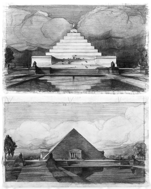 Dos propuestas presentadas por John Russell Pope para el Memorial de Abraham Lincoln en 1912