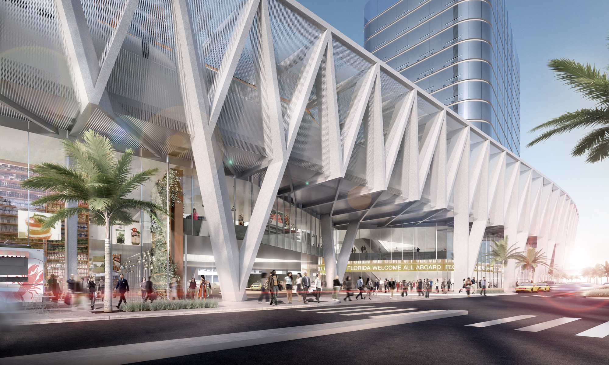 Som reveals design for all aboard florida train station Architect florida