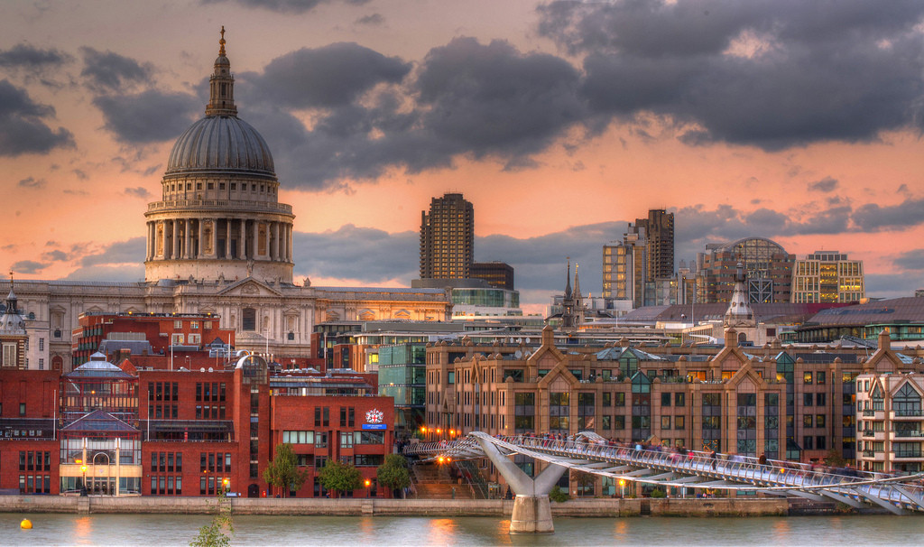London, with the dome of St Paul's Cathedral. Image © Flickr CC User Joe Newman