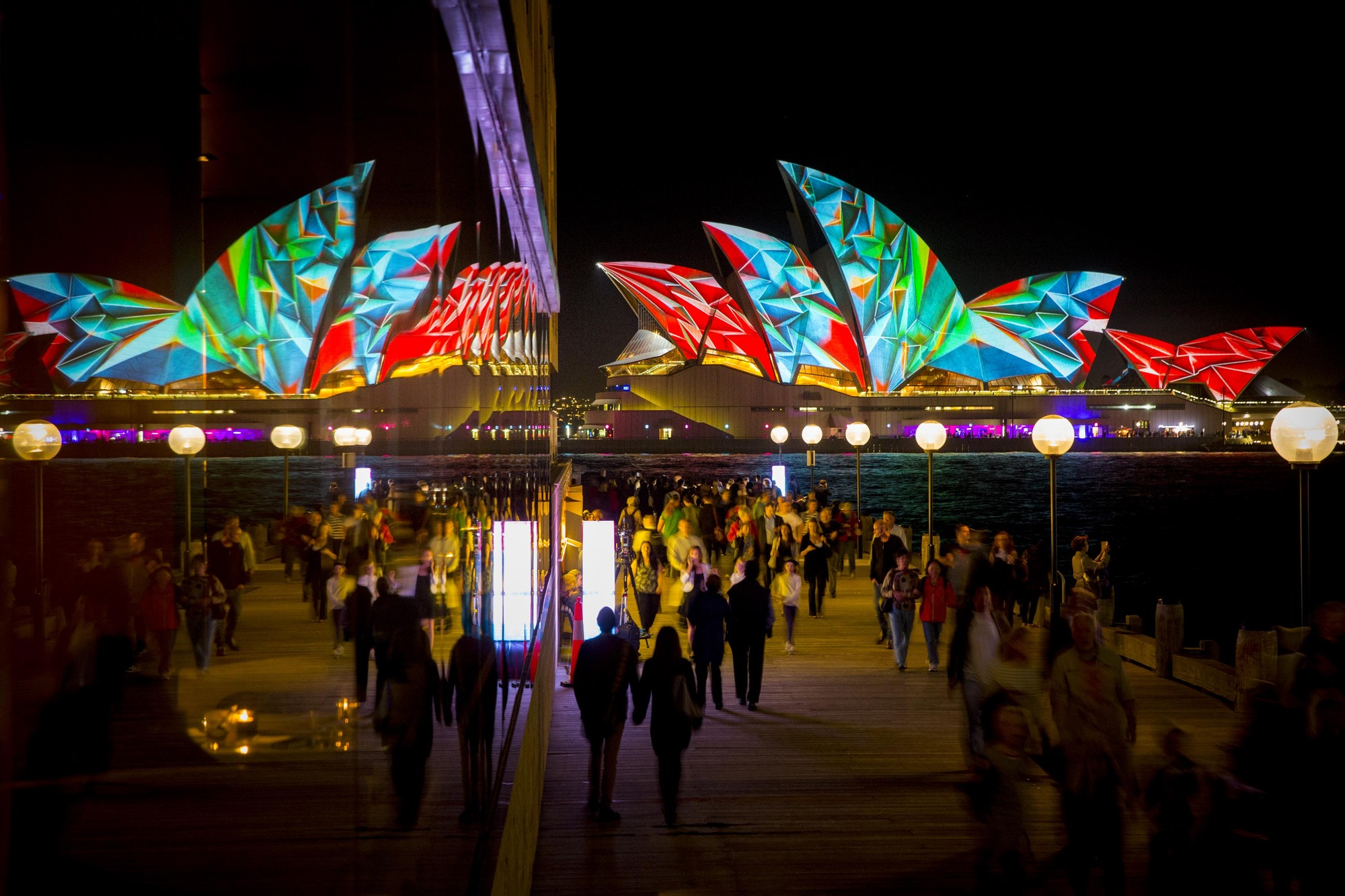 Sydney Illuminates Itself with City-Wide Light Festival, Vivid Sydney 2014: The Lighting of the Sails of the Sydney Opera House © James Horan
