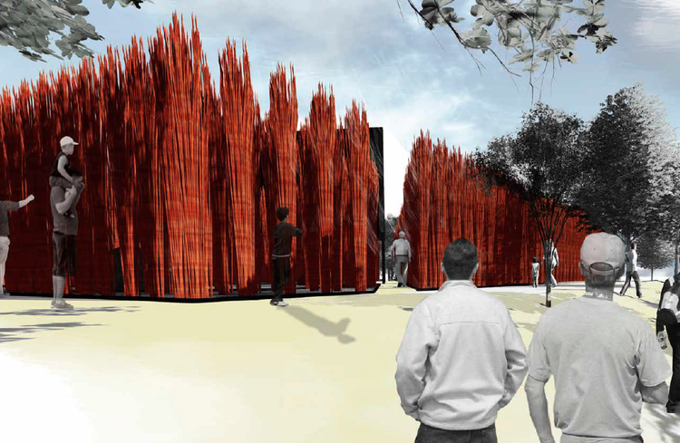 "Grupo Talca Wins 2014 YAP CONSTRUCTO with ""Wicker Forest"", © Grupo Talca"