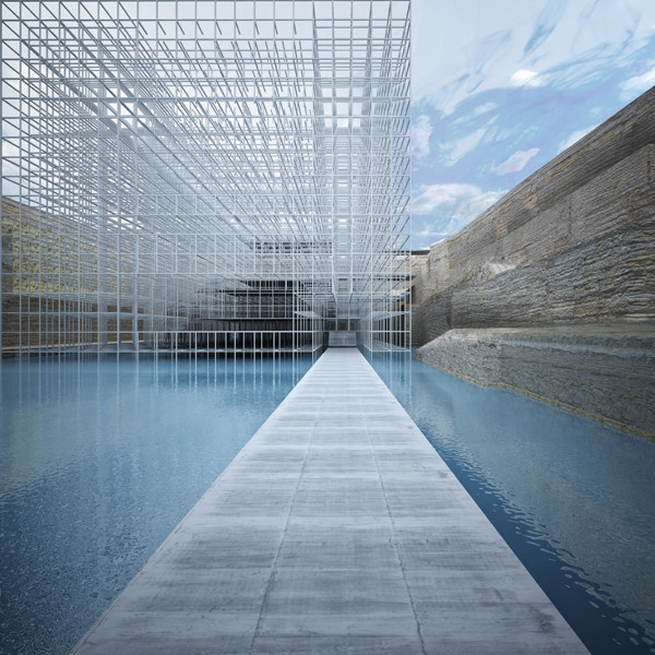 A view of the museum from the monolith. Image © GM Architects