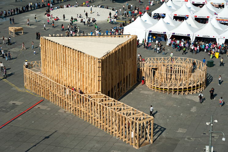 Pavilion for the Culture Fair / PRODUCTORA, © Luis Gallardo
