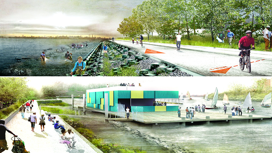 HUNTS POINT / LIFELINES, by PennDesign, OLIN. Image Courtesy of rebuildbydesign.org