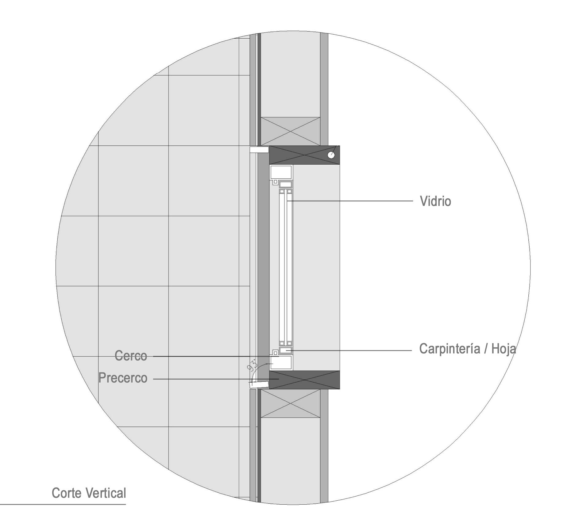 Detalle Ventana, Carpintería PVC. Casa Gauayacán / Matias Ruiz Malbran