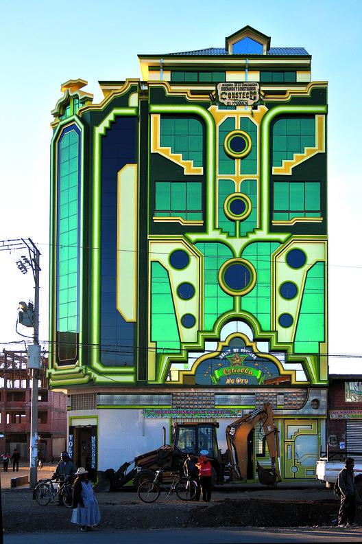 Freddy Mamani y el surgimiento de una nueva arquitectura andina en Bolivia, © Alfredo Zeballos